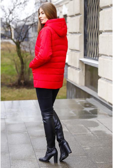 Куртка Зарина - Алый №20-80