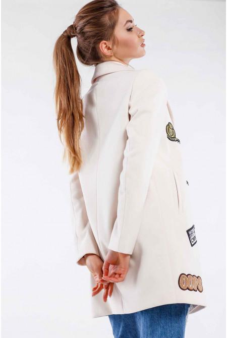 Пальто Джасти - Крем №8098