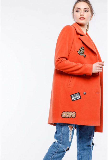 Пальто Джасти - терракот №SC-16