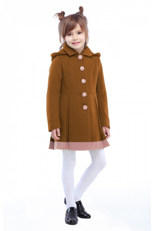 Пальто детское Милавка - Горчица H60