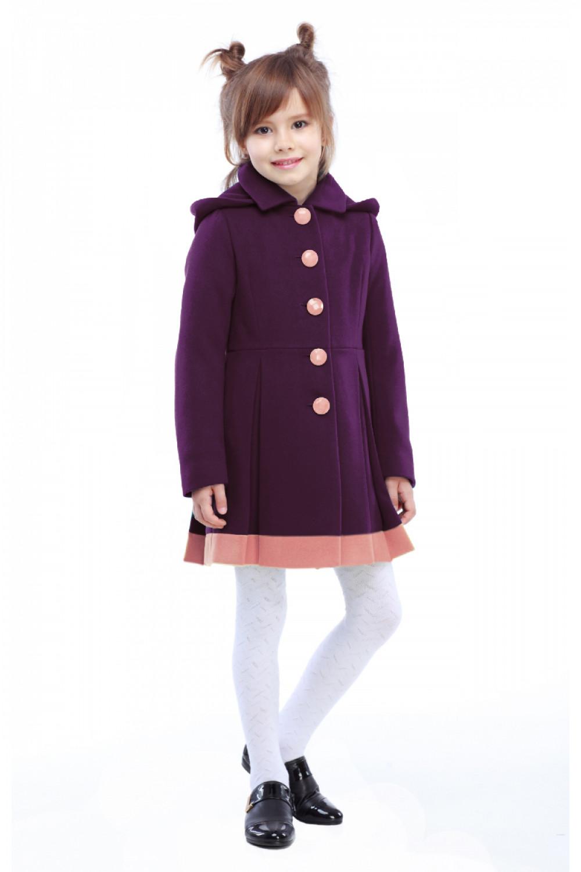 Пальто детское Милавка - Слива №603