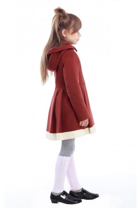 Пальто детское Милавка - Корица H120