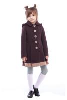 Пальто детское Милавка - Шоколад H44