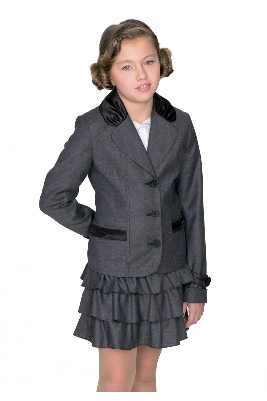 Пиджак Катюша 28-34 - Серый