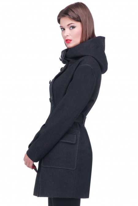 Пальто Асти - Черный