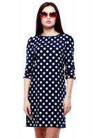 Лиен платье - Т.синий горох
