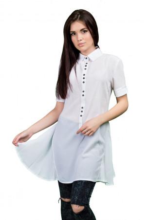 Платье-рубашка - Белая
