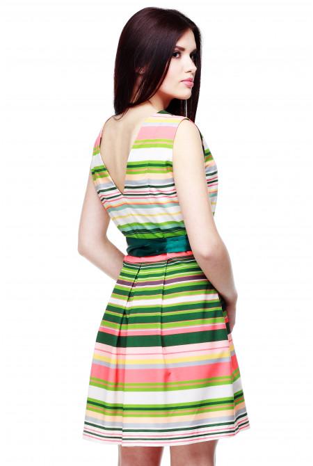 Келен платье - Зел,оранж,полоса