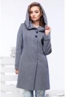 Пальто Ада - Синий №11, елка