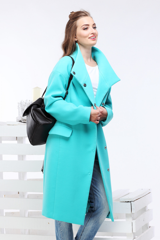 Пальто Блейси - Бирюза Н174