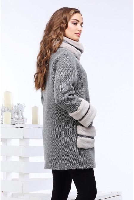 Пальто Кейлин - Серый №11
