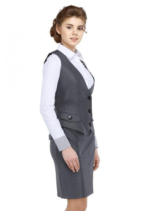Жилет Алина  48-50 - Серый