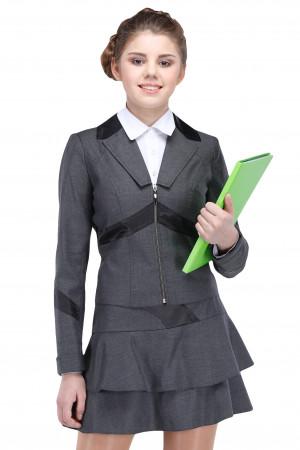 Пиджак Твигги  44-48 - Серый