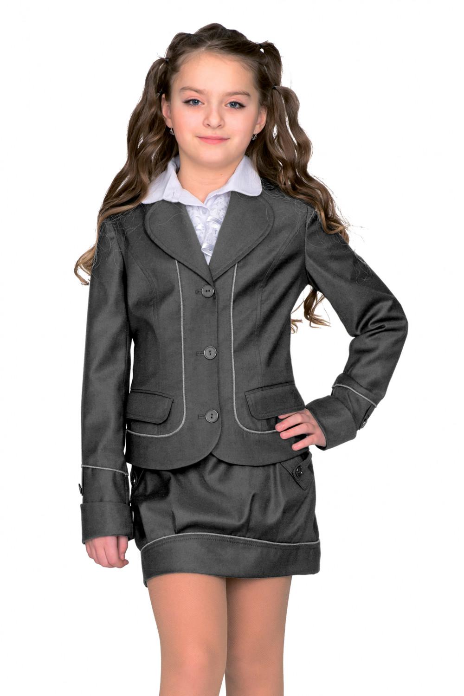 Пиджак Анютка 44-48 - Серый