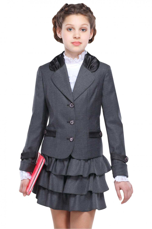 Пиджак Катюша 36-42 - Серый