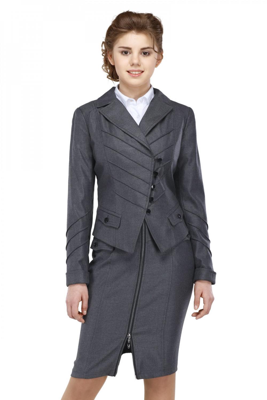Пиджак Лика 44-48 - Серый