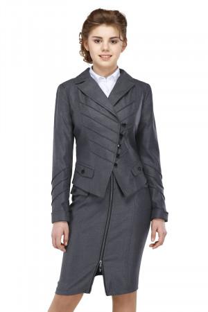 Пиджак Лика 44-48 - Серый №1